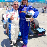 Taya Kyle takes IndyCar ride with Mario Andretti in Long Beach