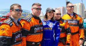 Taya with the Holmatro Safety Crew - IndyCar's First Responder heroes